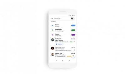 Мобильная версия Gmail меняет внешний вид