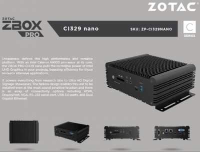 Zotac представила линейку мини-компьютеров ZBox Pro